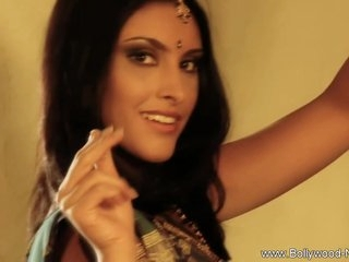 Beautiful Asian Babe From India Undressing To Music