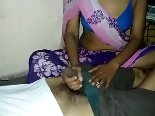 Sexy Indian Wife Handjob and Hard Fucked by Hubby