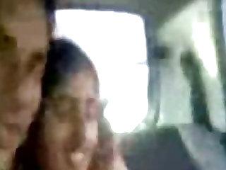Young Punjabi lovers kissing & enjoying naked in car