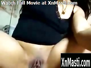 Indian Student MILF playing around on webcam
