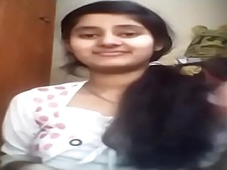 indian young lady showing her boobs