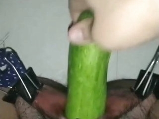 Teen girl gets her pussy lips stretched, BDSM