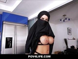 Busty Arabic Teen Violates Her Religion POV
