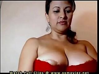 My Aunty Showing her beautiful juicy big boobs