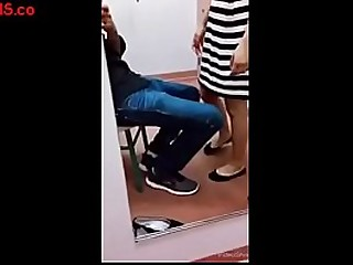 Indian girl with boyfriend blowjob