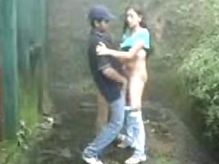 Indian couple having fun outdoor