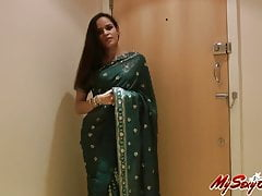 indian morose babe in arms jasmine strip naked attracting absent her sari